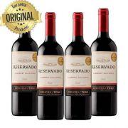 Kit : 4 Vinhos Importados Chileno Concha Y Toro Reservado Cabernet Sauvignon Tinto 750ml