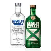 Kit composto por: 1 Vodka Absolut Original 750ml + 1 Vodka Absolut Extrakt 750ml