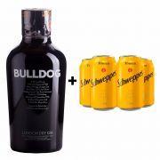 Kit Gin Bulldog 750ml + 4 Tônica Schweppes 350ml