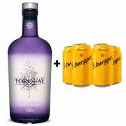 Kit Gin Torquay 750ml + 4 Tônica Schweppes 350ml
