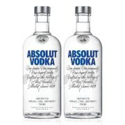 Kit Vodka Absolut Original 750ml - 2 Unidades