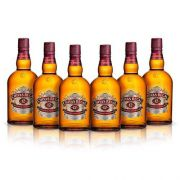Kit Whisky Chivas Regal 12 anos 750ml - 6 Unidades