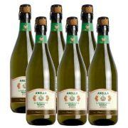 Vinho Frisante Lambrusco Branco Anella 750ml 06 Unidades
