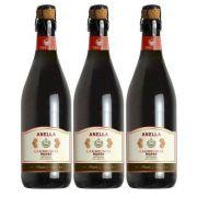 Vinho Frisante Lambrusco Tinto Anella 750ml 03 Unidades