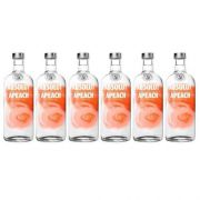 Vodka Absolut Apeach 750ml 06 Unidades