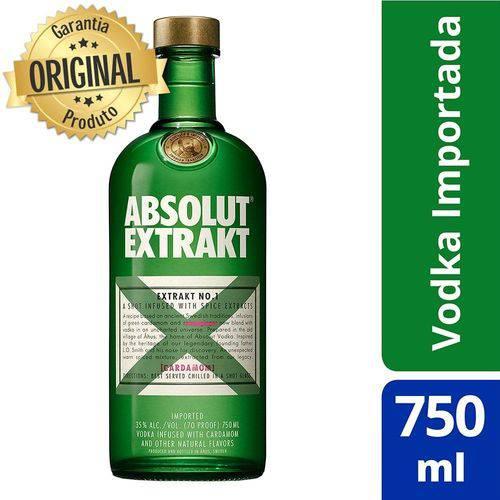 Absolut Extrakt Sueca - 750ml  - Deliciando Quitanda