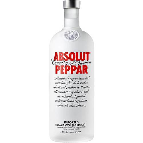 Absolut Vodka Peppar Sueca - 750ml  - Deliciando Quitanda