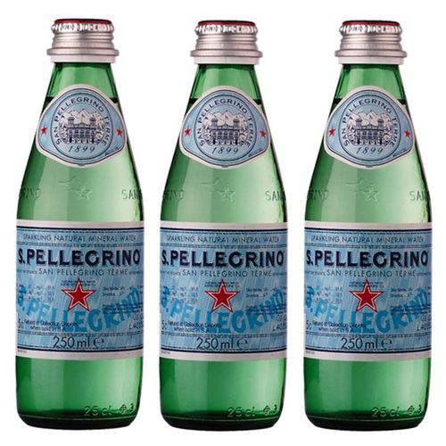 Água Mineral S. Pellegrino Gaseificada 250ml 03 Unidades  - DQ Comércio