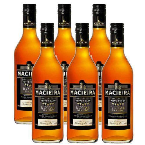 Brandy Macieira 5 Estrelas 700ml 06 Unidades  - DQ Comércio