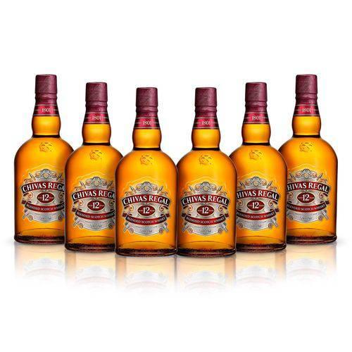 Chivas Regal Whisky 12 Anos Escocês Com Lata - 750ml 6 UNIDADES  - Deliciando Quitanda