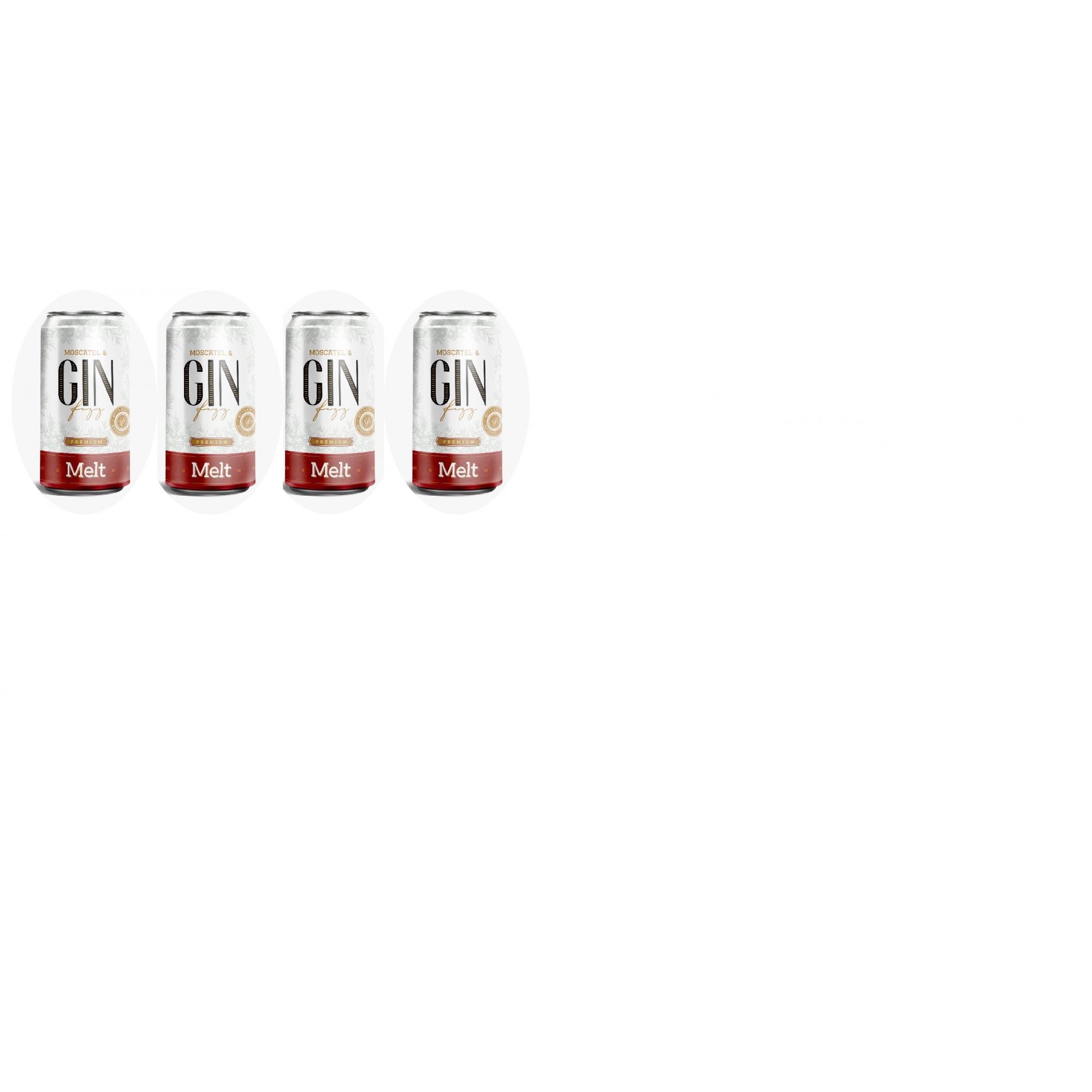 Combo 4 unid. Melt - Moscatel & Gin Fizz lata  - 269ml  - DQ Comércio