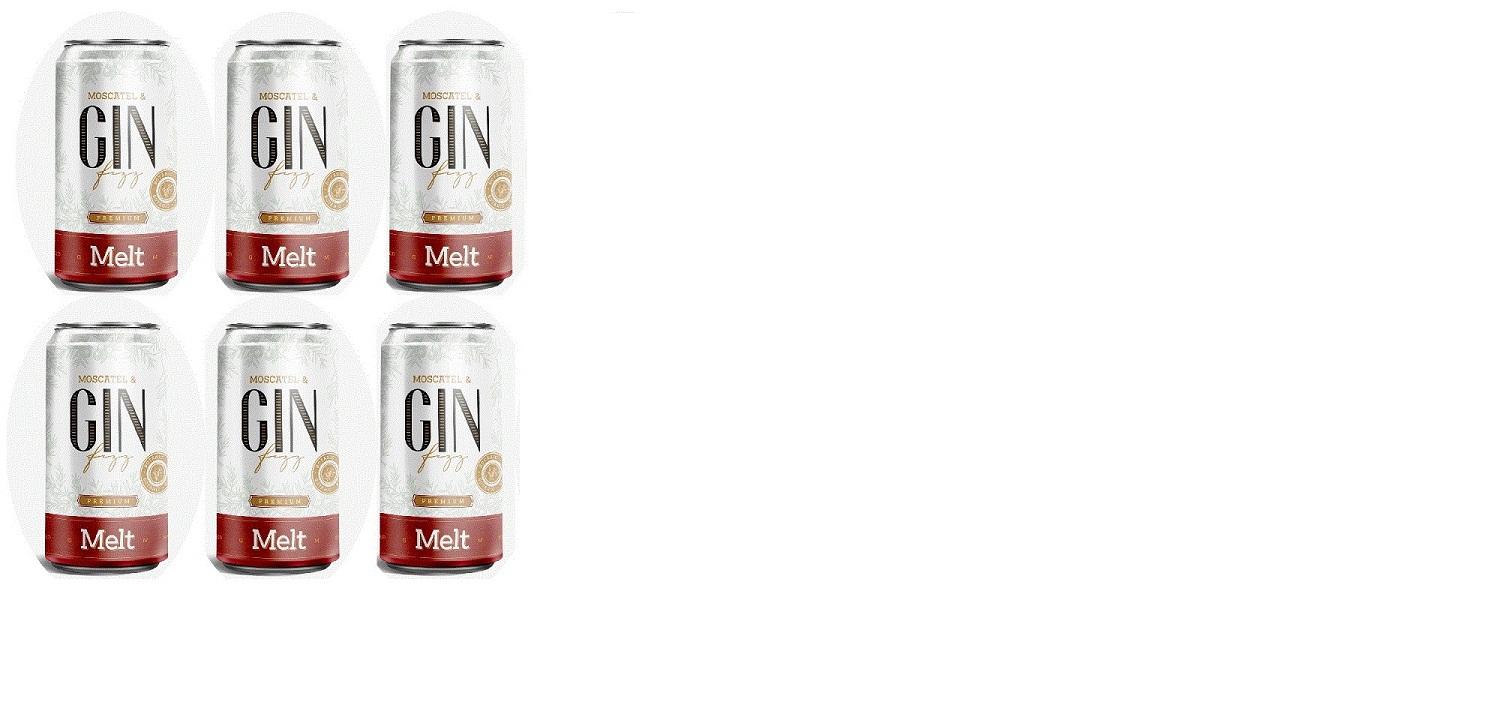 Combo 6 unid. Melt - Moscatel & Gin Fizz lata - 269ml  - DQ Comércio