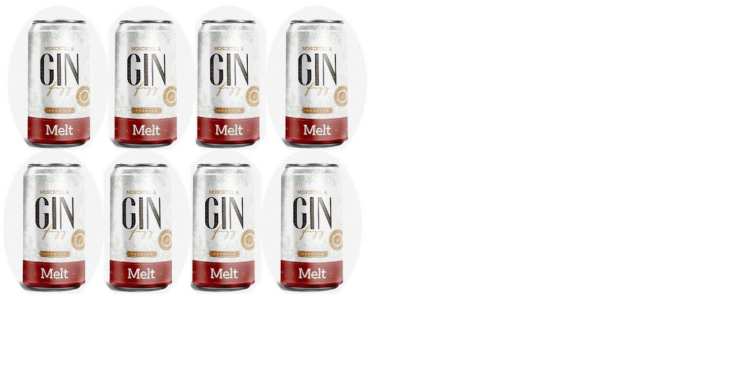 Combo 8 unid. Melt - Moscatel & Gin Fizz lata - 269ml  - DQ Comércio