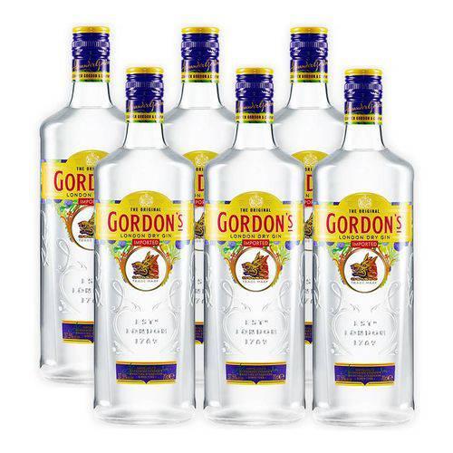 Gin Gordons 750ml 06 Unidades  - Deliciando Quitanda