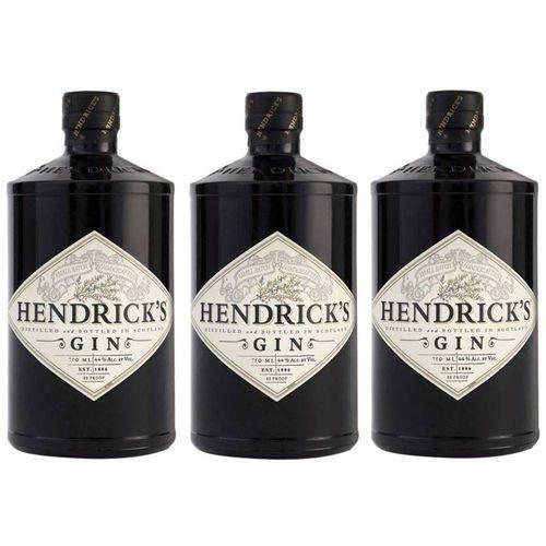 Gin Hendricks 750ml 03 Unidades  - Deliciando Quitanda