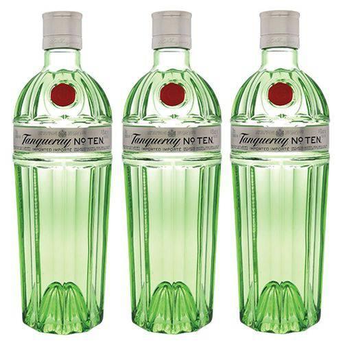 Gin Tanqueray No. Ten 750ml 03 Unidades  - DQ Comércio