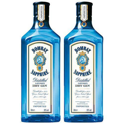 Kit 2 Gin Importado Bombay Sapphire 750ml  - Deliciando Quitanda