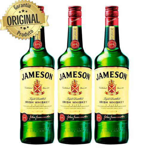 Kit 3 Whisky Importado Irlandes Jameson 750ml  - Deliciando Quitanda
