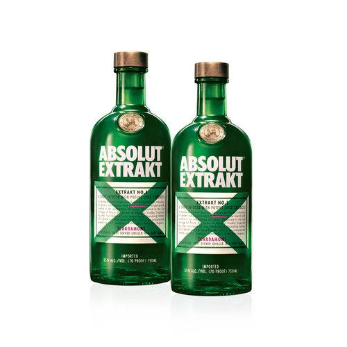 Kit Composto Por: 2 Vodka Absolut Extrakt Sueca - 750Ml  - Deliciando Quitanda