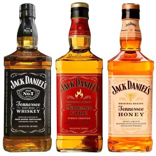 Kit Whisky Jack Daniels 1 Litro Honey - Fire - Old N7  - DQ Comércio