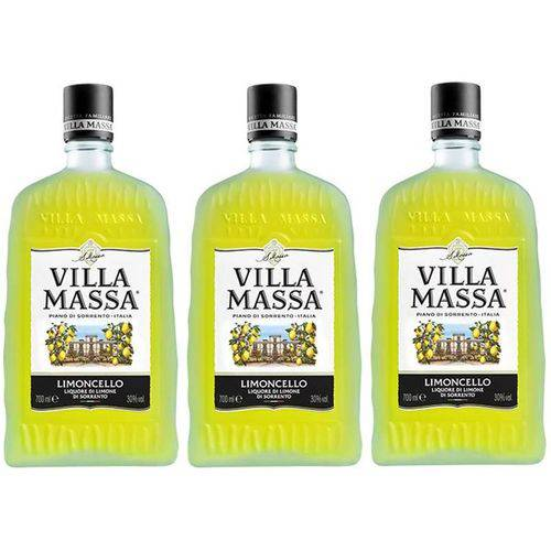 Licor Villa Massa Limoncello 700ml 03 Unidades  - DQ Comércio