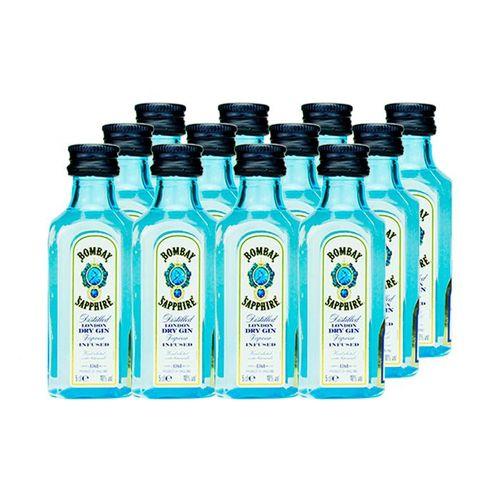 Mini Gin Bombay Sapphire 50ml Kit 12 Unidades Miniatura Mini Garrafa  - DQ Comércio
