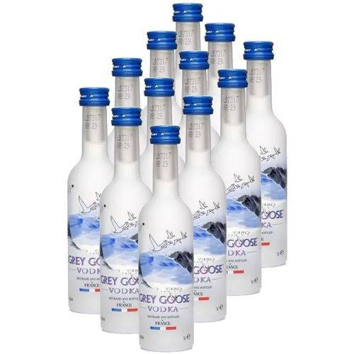 Mini Vodka Grey Goose 50ml 12 unidades  - Deliciando Quitanda