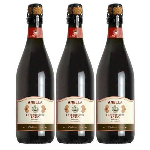 Vinho Frisante Lambrusco Tinto Anella 750ml 03 Unidades  - Deliciando Quitanda
