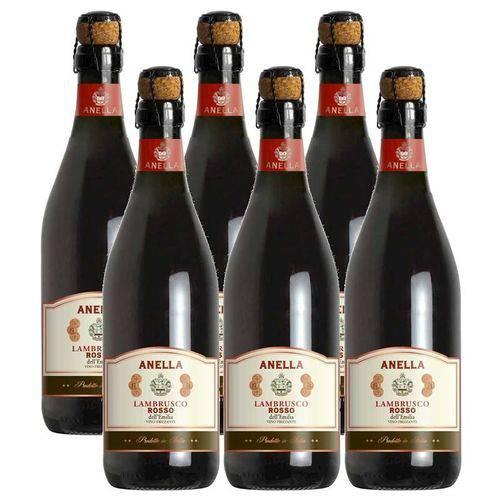 Vinho Frisante Lambrusco Tinto Anella 750ml 06 Unidades  - Deliciando Quitanda