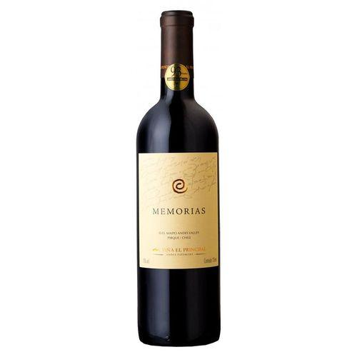 Vinho Tinto Chileno Memorias El Principal 750ml  - DQ Comércio