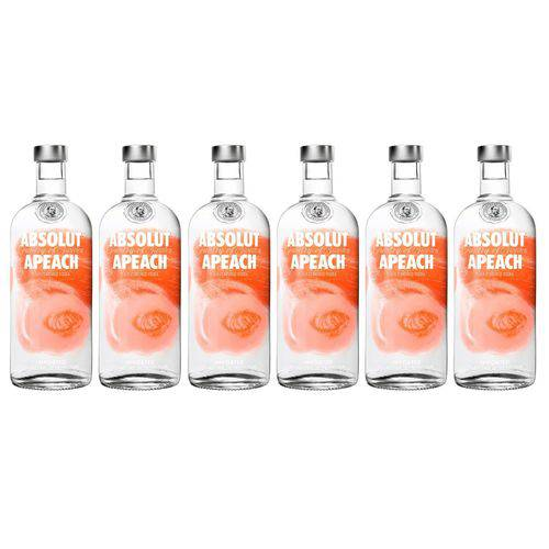 Vodka Absolut Apeach 750ml 06 Unidades  - Deliciando Quitanda