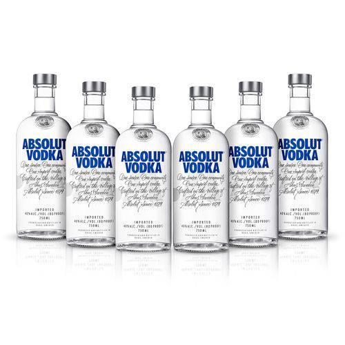 Vodka Absolut Original 750ml 06 Unidades  - DQ Comércio