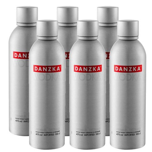 Vodka Danzka 1 Lt Garrafa Alumínio 06 Unidades  - DQ Comércio
