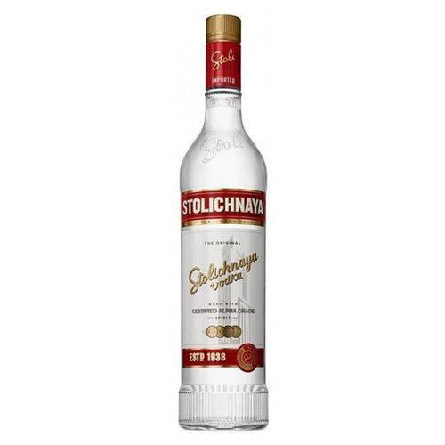 Vodka Russa Premium Letonia Garrafa 750ml - Stolichnaya  - Deliciando Quitanda