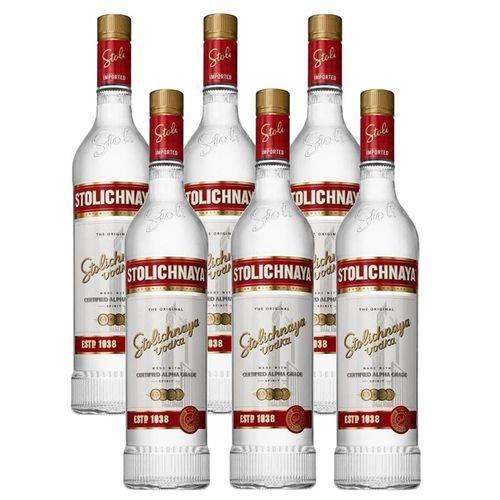 Vodka Stolichnaya 750ml 06 Unidades  - DQ Comércio