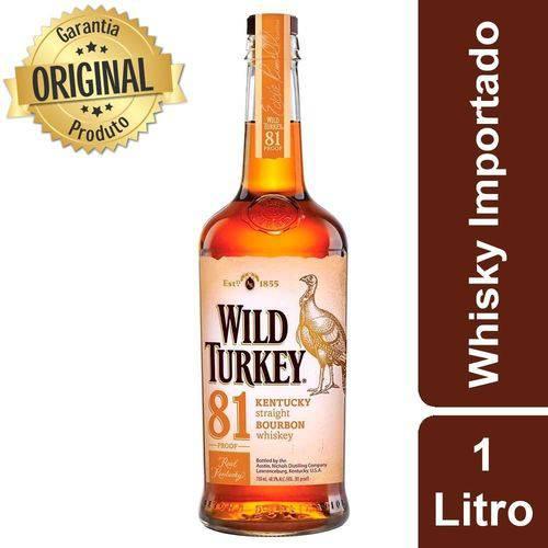 Whisky Americano Garrafa 1 Litro - Wild Turkey  - Deliciando Quitanda