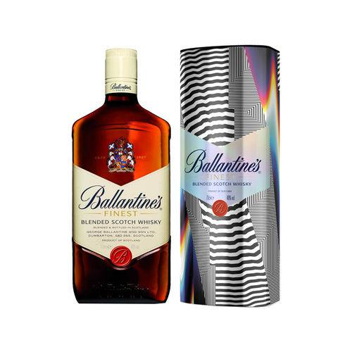 Whisky Ballantines Finest Whisky Escocês Com Lata - 750ml  - Deliciando Quitanda