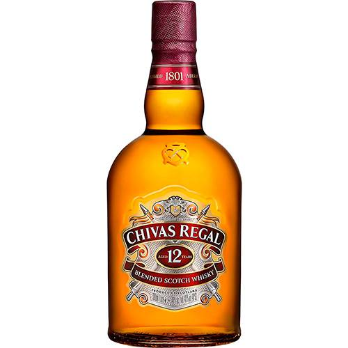 Whisky Chivas Regal 12 Anos 3 unidades - 1L  - Deliciando Quitanda