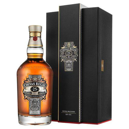 Whisky Chivas Regal 25 Anos 750ml  - Deliciando Quitanda