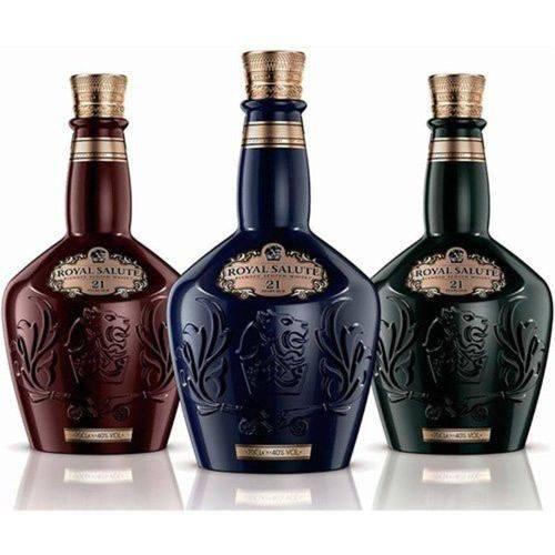 Whisky Chivas Royal Salute 21 Anos 700 Ml 3 UNIDADES  - Deliciando Quitanda