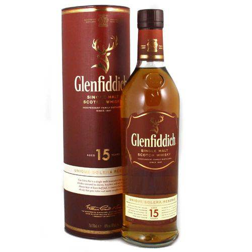 Whisky Glenfiddich 15 Anos Single Malte 750ml  - DQ Comércio