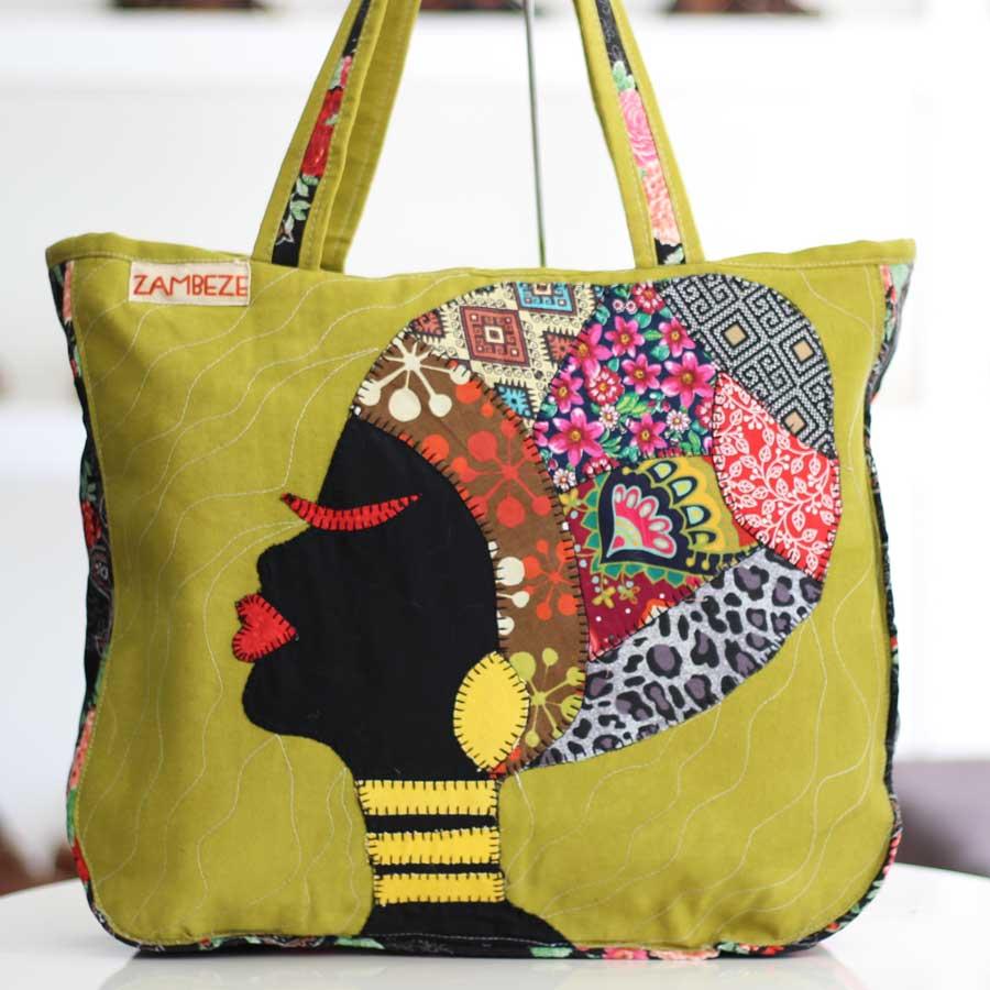 Bolsa Feminina Clube Praia De Tecido Patchwork  Retalho Imagem Africana 10