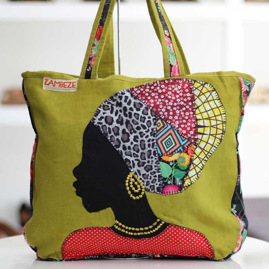 Bolsa Feminina Clube Praia De Tecido Patchwork  Retalho Imagem Africana 1