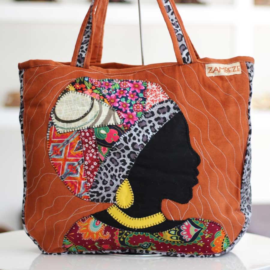 Bolsa Feminina Clube Praia De Tecido Patchwork  Retalho Imagem Africana 2