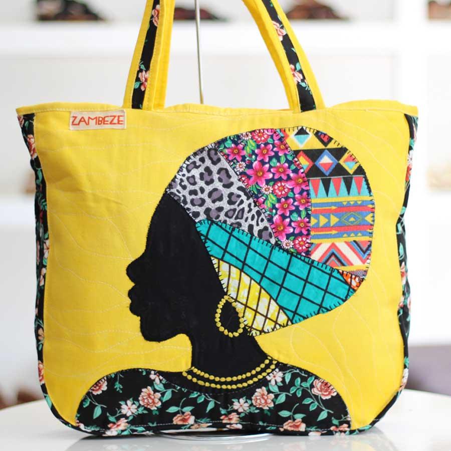 Bolsa Feminina Clube Praia De Tecido Patchwork  Retalho Imagem Africana 3