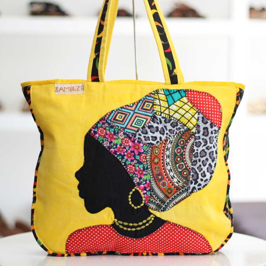 Bolsa Feminina Clube Praia De Tecido Patchwork  Retalho Imagem Africana 4