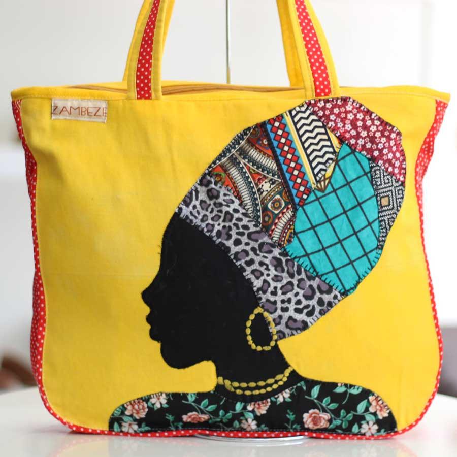 Bolsa Feminina Clube Praia De Tecido Patchwork  Retalho Imagem Africana 5