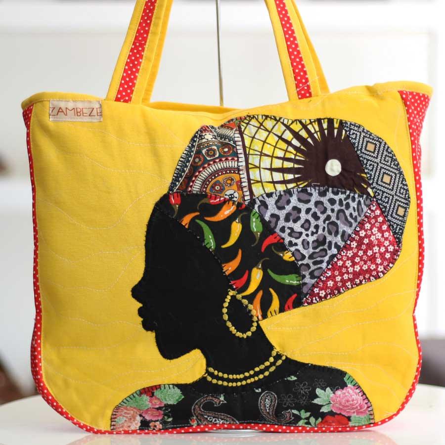 Bolsa Feminina Clube Praia De Tecido Patchwork  Retalho Imagem Africana 6