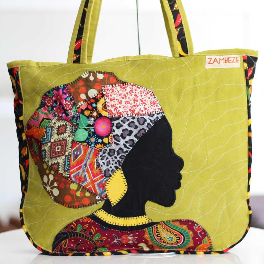 Bolsa Feminina Clube Praia De Tecido Patchwork  Retalho Imagem Africana 7