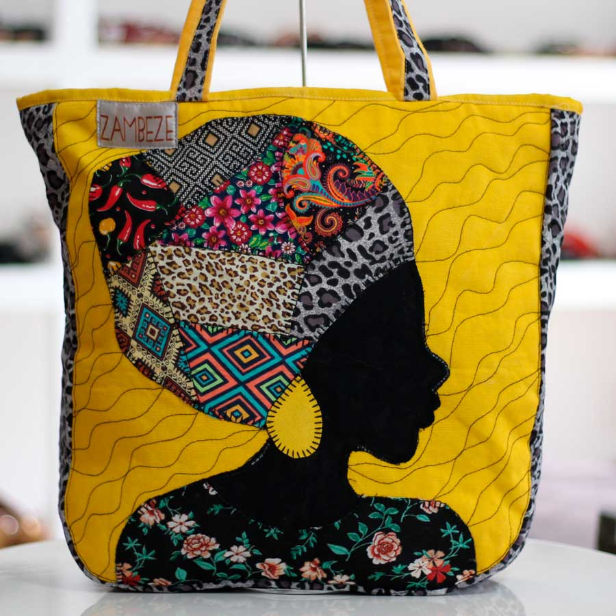 Bolsa Feminina Clube Praia De Tecido Patchwork  Retalho Imagem Africana Alça Tecido